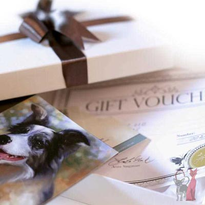 pet portraits gift vouchers