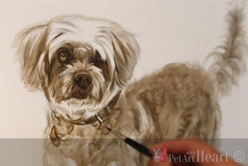 Virtua's oil portrait in progress