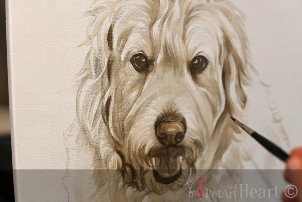 Oil painting dog oliver