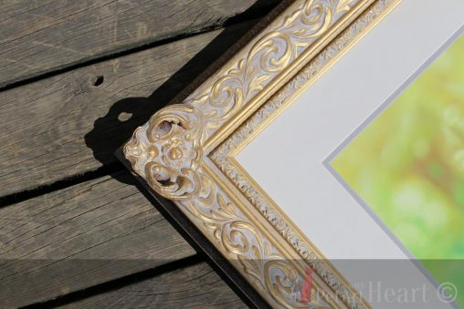 framed pet portrait pastel cocker spaniel
