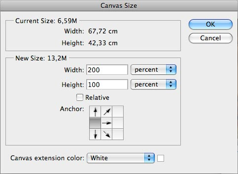 canvas size photoshop