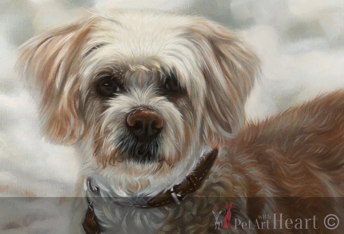 Close up of Viruta's oil portrait