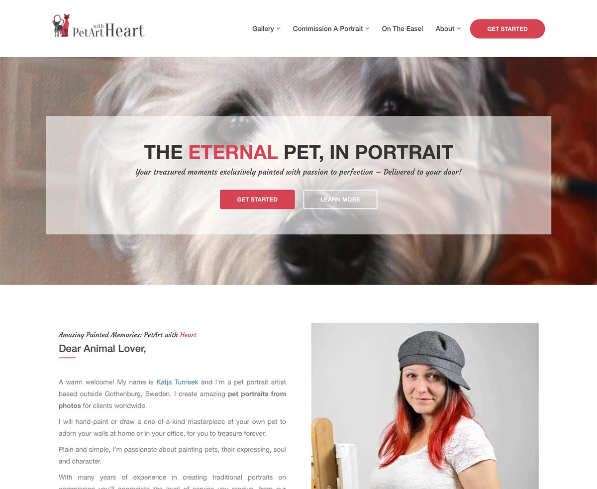 New PetArt with Heart website
