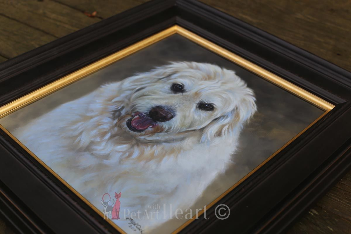 framed oil portrait Oliver