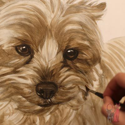 pet portrait progress oil Ferguson