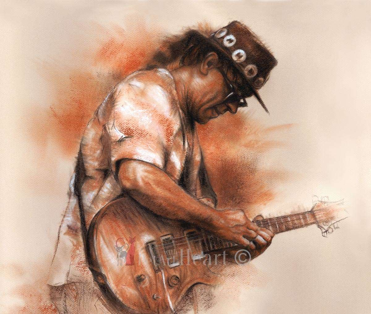 guitarist in pastel Vlado Turnsek