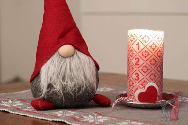 santa candle portrait studio